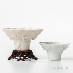 Two Blanc-de-Chine Libation Cups