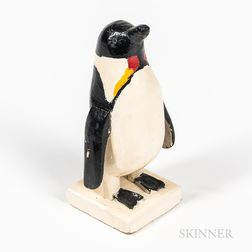 Carved and Painted Folk Art Penguin