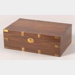 Brass Mounted Mahogany Box
