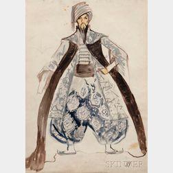 Leonid Terentevich Chupyatov (Russian, 1890-1942)      Orientalist Costume Design for a Man