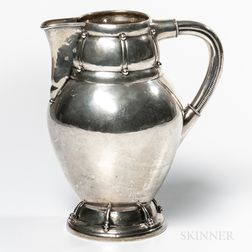 Danish Silver Pitcher