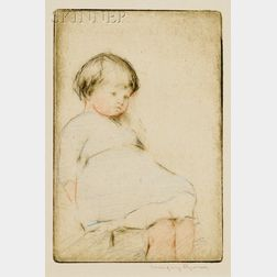 Margery Austen Ryerson (American, 1886-1989)      Seated Child.