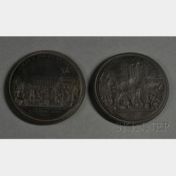 Pair of Wedgwood Black Basalt Intaglio Medallions