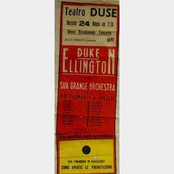 """Italian """"Duke Ellington e la Sua Grande Orchestra Teatro Duse"""" Concert Poster"""