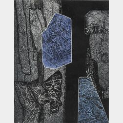 Gabor F. Peterdi (Hungarian/American, 1915-2001)      In the Stoneworks