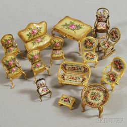 Fifteen Pieces of Miniature Furniture