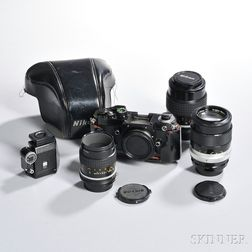 Nikon F2 FTN Finder and Three Lenses