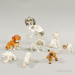 Eight Ceramic Animals