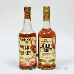 Wild Turkey, 1 4/5 quart bottle 1 750ml bottle