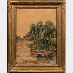 Frank Enders (American, 1860-1921)      Wooded Pond