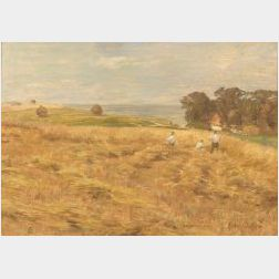 Henri Amie Duhem (French, 1860-1941)  In the Hay Fields