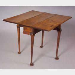 Queen Anne Maple Drop-leaf Tea Table