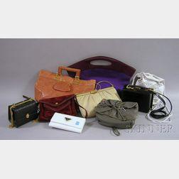 Group of Nine Designer Pocketbooks, 1970s-1990s