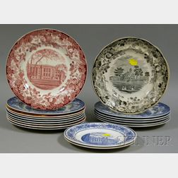 Seventeen Assorted Wedgwood University and College Ceramic Plates