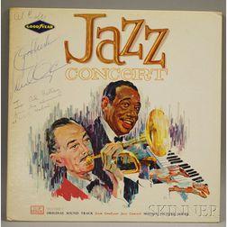 Duke Ellington Autographed Record Album Jazz Concert