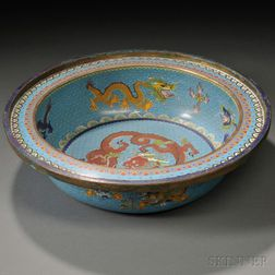 Cloisonne Basin with Dragons