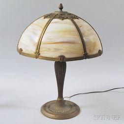 Edward Miller & Co. Slag Glass Table Lamp