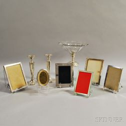 Group of Mostly Sterling Silver Tableware and Accessories