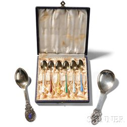 Group of Scandinavian Silver Spoons