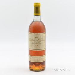 Chateau dYquem 1976, 1 bottle