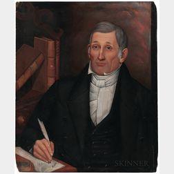 Milton Hopkins (New York/Connecticut/Ohio, 1789-1844)      Portrait of David Brunson