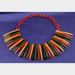 Vintage Bakelite Multi-color Necklace