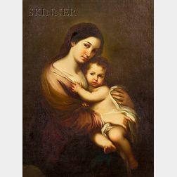 After Bartolomé Esteban Murillo (Spanish, 1618-1682)    Madonna and Child