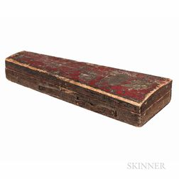 American Red-painted Violin Case, 19th Century
