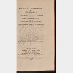 (Library Sale Catalog), Towneley, John
