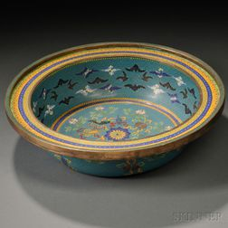 Cloisonne Basin with Buddhist Treasures