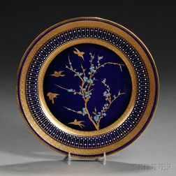Twelve Cauldon Porcelain Service Plates
