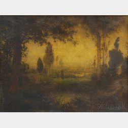 American School, 19th Century      Autumn Landscape.