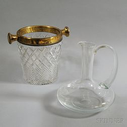 Two Colorless Glass Vessels