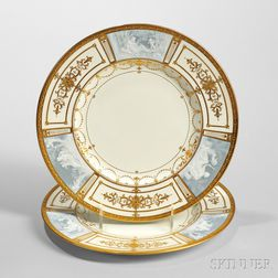 Set of Twelve Mintons Pate-sur-Pate Plates