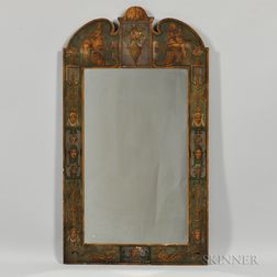 Neoclassical-style Paint-decorated Mirror