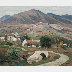 Anthony Thieme (American, 1888-1954)      Camino a Mijas