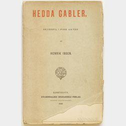 Ibsen, Henrik (1828-1906) Hedda Gabler  , First Edition.