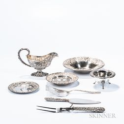 Eight Pieces of Kirk Sterling Silver Tableware