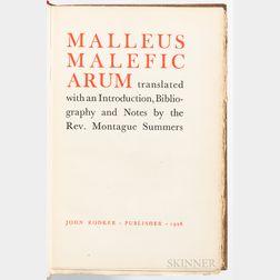 [Kramer, Heinrich] (c. 1430-1505) Malleus Maleficarum.