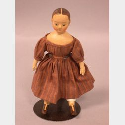 "Miniature Izannah Walker Cloth Girl Doll by ""True Friends"""