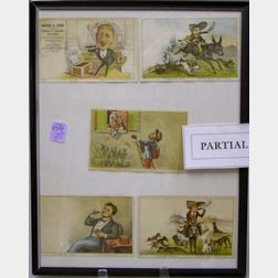 Framed Collection of Currier & Ives Chromolithograph Trade Cards