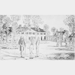Lot of Three Prints from TWENTY MASTERPIECES IN ETCHING:  THE LIFE    OF GEORGE WASHINGTON: