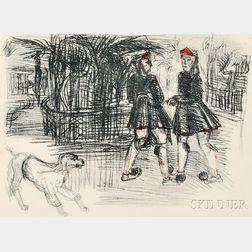 Charles Crodel (French, 1894-1973)      Königlicher Garten in Athen (The Royal Garden in Athens)