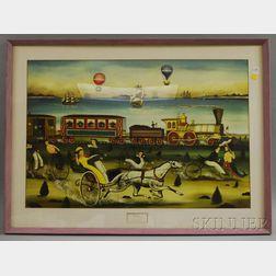 Framed Ralph Cahoon Mechanical Print The Race