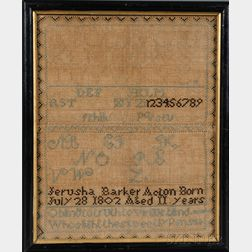 Acton, Massachusetts, Needlework Sampler