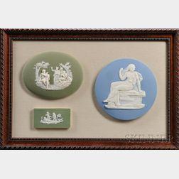 Framed Group of Three Wedgwood Jasper Plaques