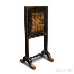 Chinese Export Gilt and Lacquered Desk