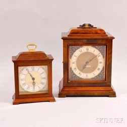 Two Seth Thomas Mahogany Bracket Clocks.     Estimate $20-200