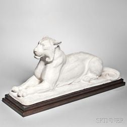 Charles Robert Knight (American, 1874-1953)      Plaster Maquette for the Palmer Square Tiger/Memorial to Edgar Palmer