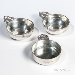 Three Sterling Silver Porringers